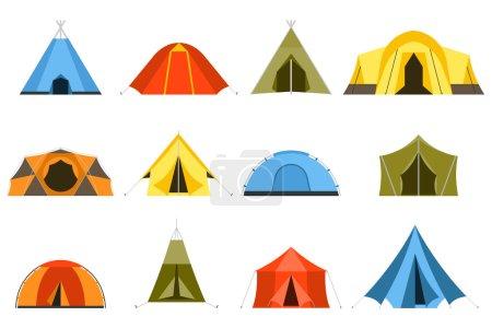 Tourist Tents Icons