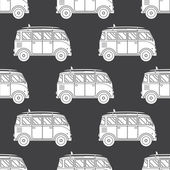 Travel Buses Seamless Pattern