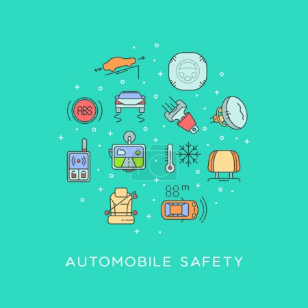 Set of automobile safety equipment