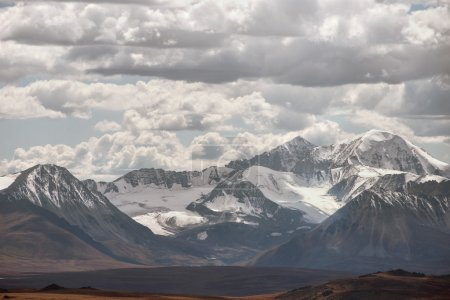 Mountains landscape with cloudy sky