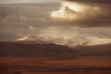 Photo for Sunrise landscape of Aktru mountains - Royalty Free Image