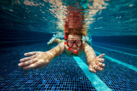 Man with snorkel mask