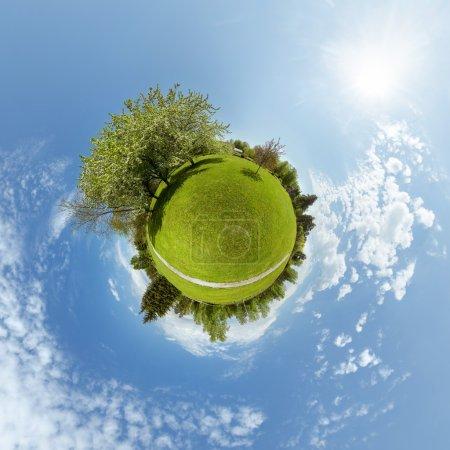 Photo pour Petite notion de panorama de planète 360 - image libre de droit