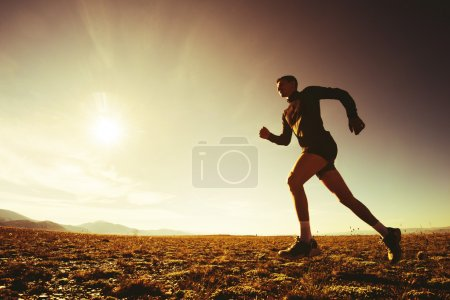 Photo for Running man nature concept - Royalty Free Image
