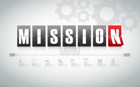 Illustration pour Tableau de mission design avec icône pour concept d'entreprise - image libre de droit