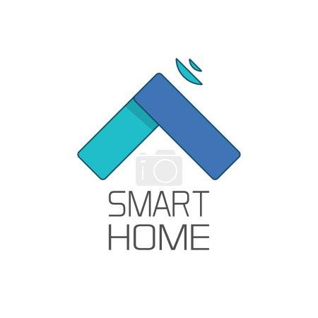 Smart home logo symbol isolated on white background