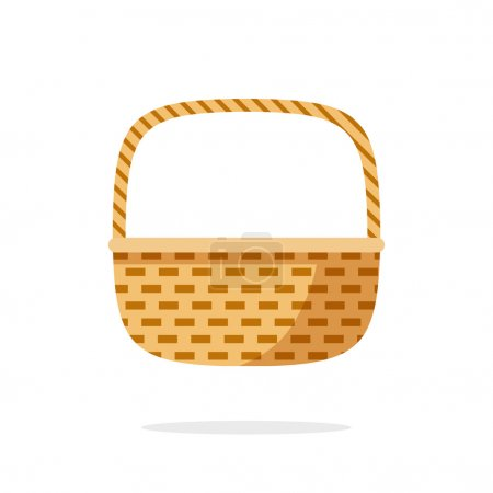 Wicker basket icon vector symbol isolated on white background