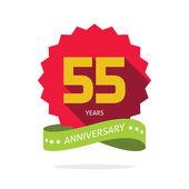 Years 55 anniversary vector label logo