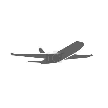 Plane taking off silhouette vector illustration