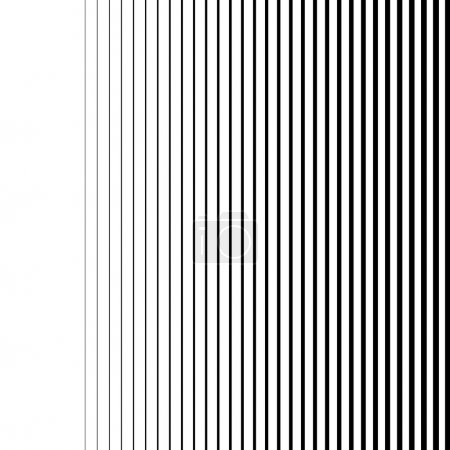 Illustration for White gradient lines seamless background vector pattern, vertical black stripes, parallel lines from thick to thin - Royalty Free Image