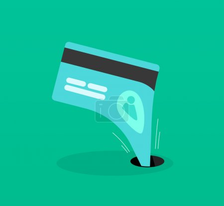 Abstract identity theft, business fraud money outflow, financial protection