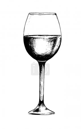 Isolated champagne glass.