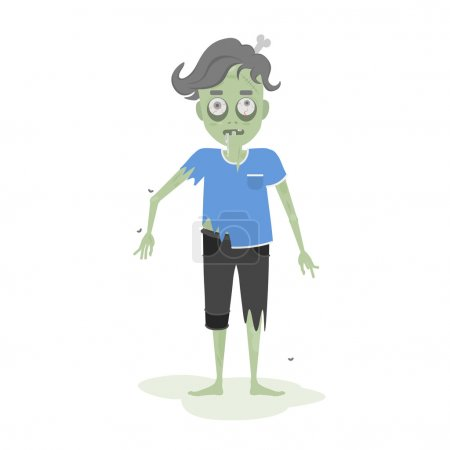 Isolated scary zombie.