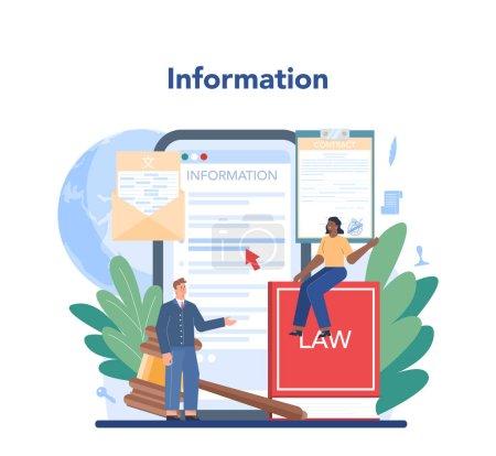 Servicio notarial de servicio en línea o plataforma. Firma de abogado profesional