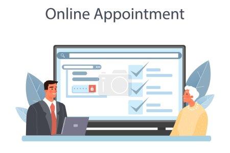 Servicio notarial de servicio en línea o plataforma. Firma y legalización de abogados