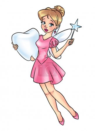 Tooth Fairy beautiful girl cartoon