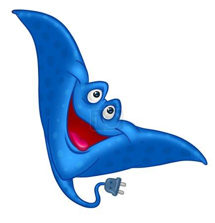Fisch Krampffisch blau