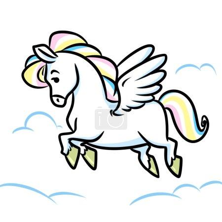 Horse Pegasus flying