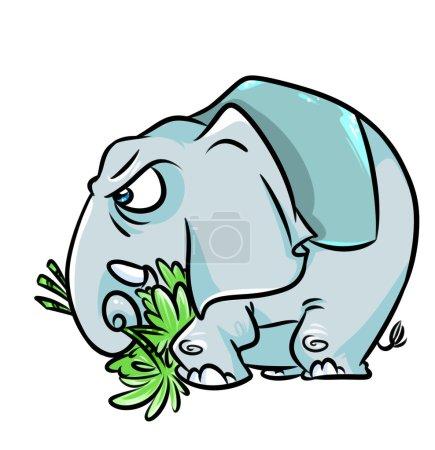Elephant aggression cartoon