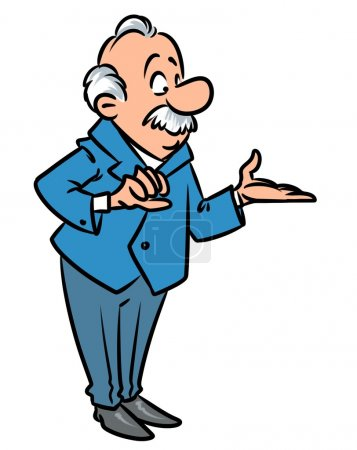 Professor cartoon illustration isolated image char...