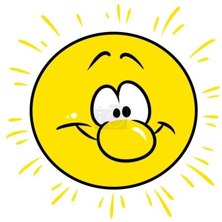 yellow sun character cartoon