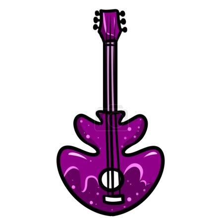 Electric Guitar Music purple cartoon