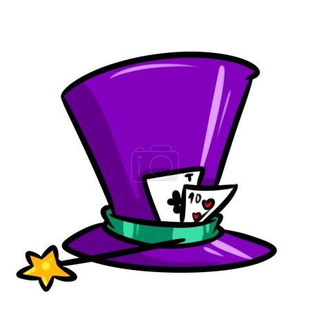 Cylinder focus playing cards cartoon