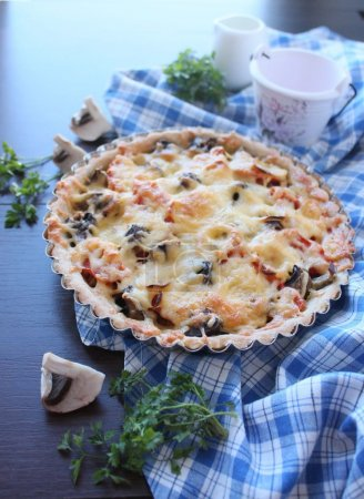 vegetable pie with vegetables and cheese