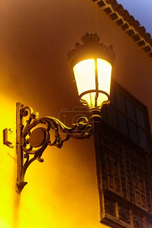 Lantern on the wall