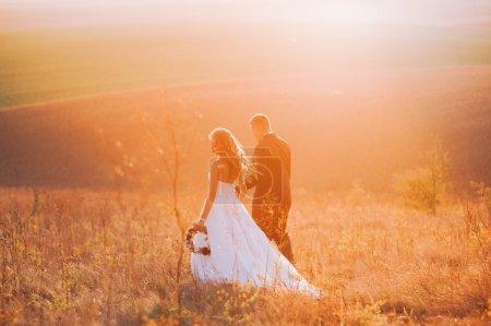 attractive wedding couple