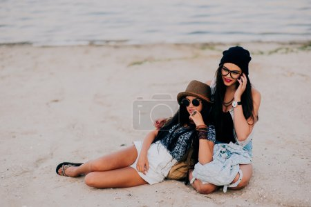 two beautiful brunette girls