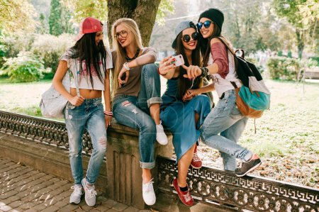 four beautiful young girls