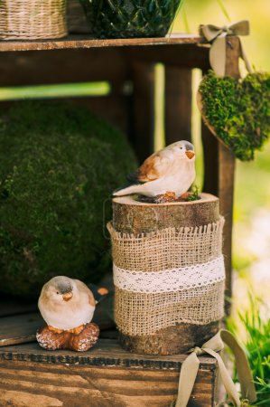 cute decoration with birds