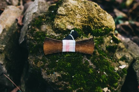 wooden butterfly on grass