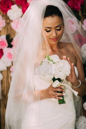 beautiful bride posing