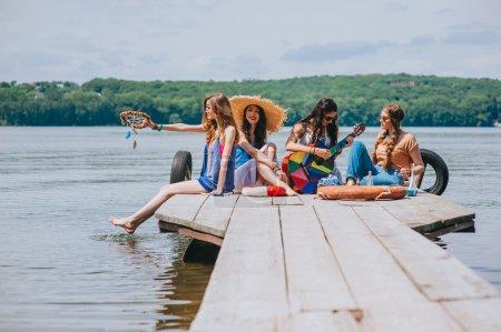 four beautiful girl friends