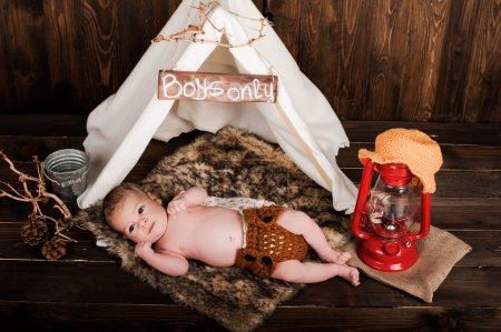baby boy, photo studio