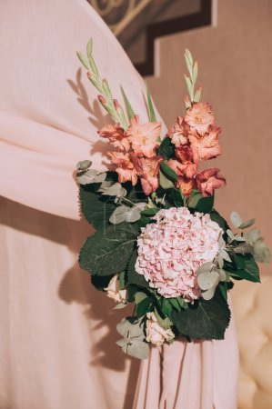 Photo for Bouquet of wedding flowers decoration - Royalty Free Image