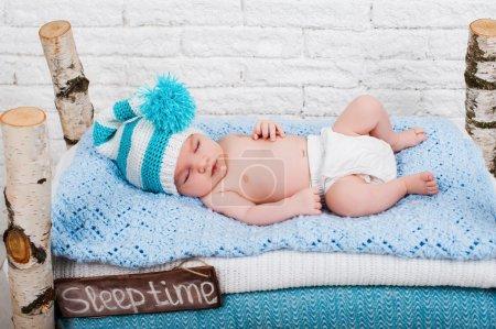 newborn baby boy sleeps