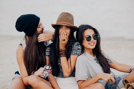 Girls friends at the beach
