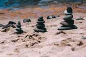 Balance stones on the beach