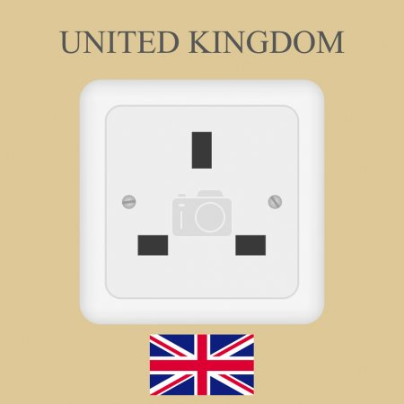 Electrical outlet in the UK, power socket with Universal Serial Bus
