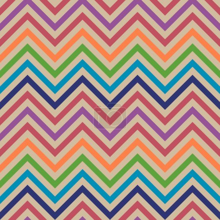Colorful zigzag vector seamless pattern. Chevron pattern