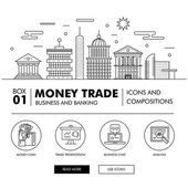 Modern banking business and trade industry