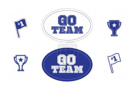 Set of sports fan and