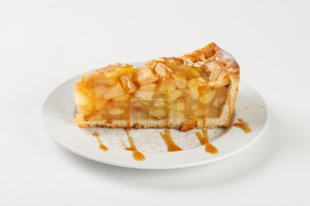 Delicious apple pie charlotte with caramel on the ...