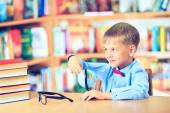 Education, elementary school, technology and children concept -