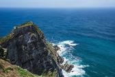 The rugged coastline view