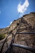 Steep dangerous stairs