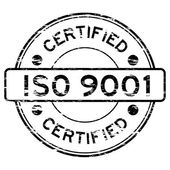 Grunged ISO9001 certified stamp
